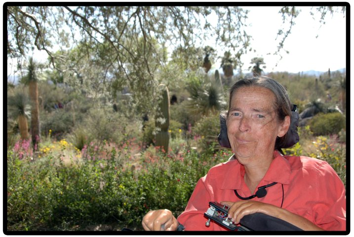 Me, reveling in desert spring.