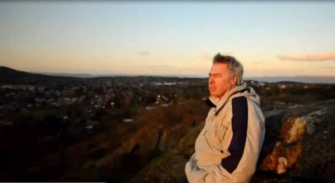 "Robert Latimer, in a classic filmic ""beauty shot"" – panoramic and glowing with evening light"